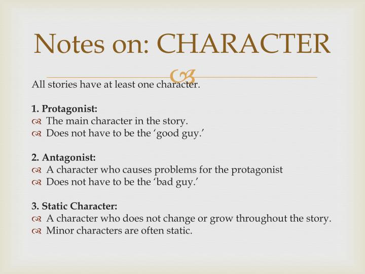 notes on character