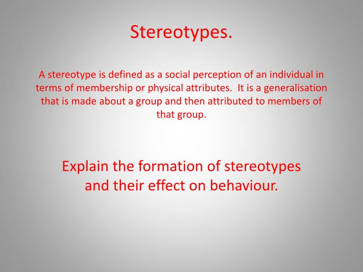 what are stereotypes essay Open document below is an essay on stereotypes from anti essays, your source for research papers, essays, and term paper examples.