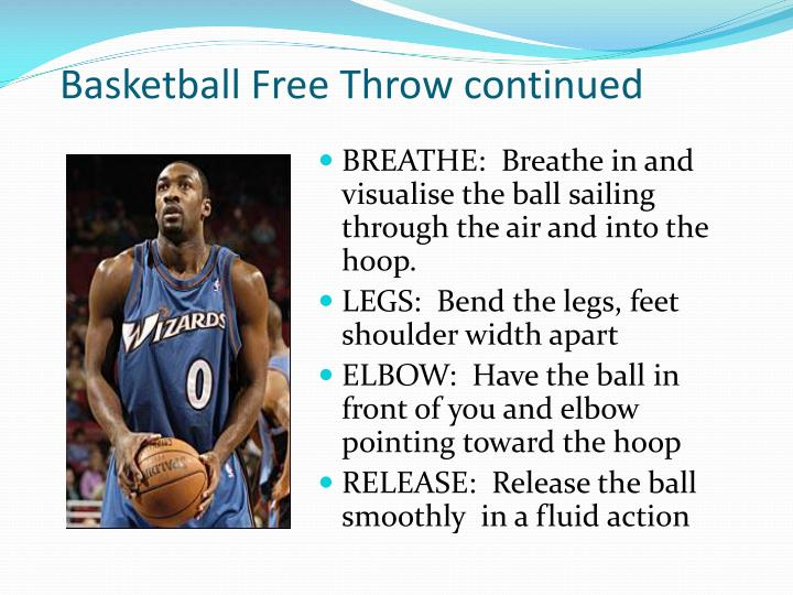 Basketball Free Throw continued