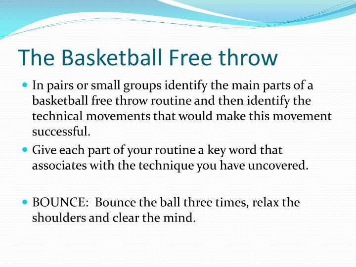 The Basketball Free throw