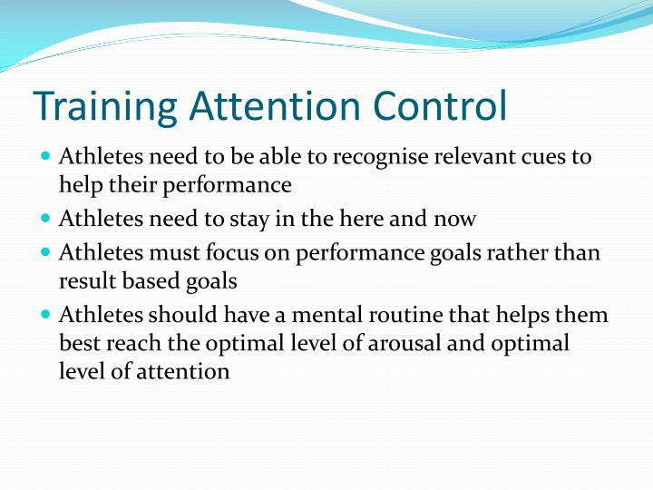 Training Attention Control