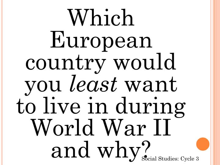 Which European country would you