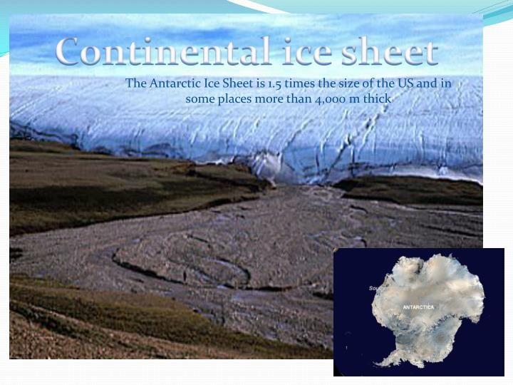 Continental ice sheet