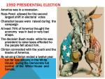 1992 presidential election