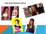 fads and fashion girls