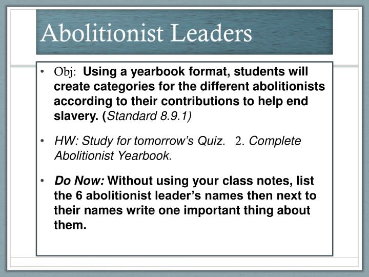 Abolitionist Leaders