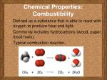 chemical properties combustibility