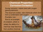 chemical properties corrosion oxidation