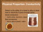 physical properties conductivity