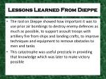 lessons learned from dieppe2