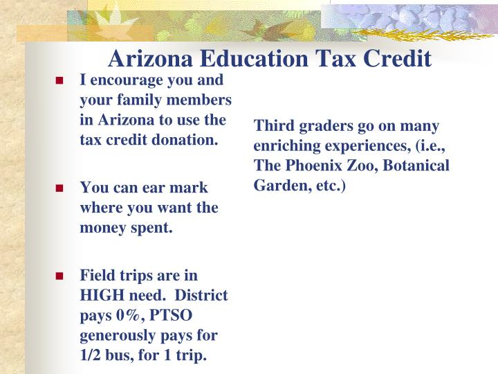 Arizona Education Tax Credit