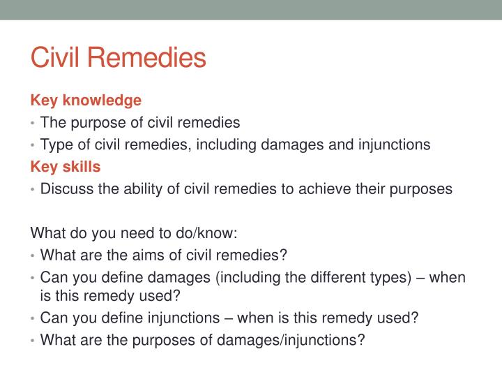 civil remedies n.