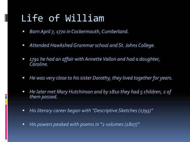 Life of william