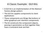 a classic example gui kits