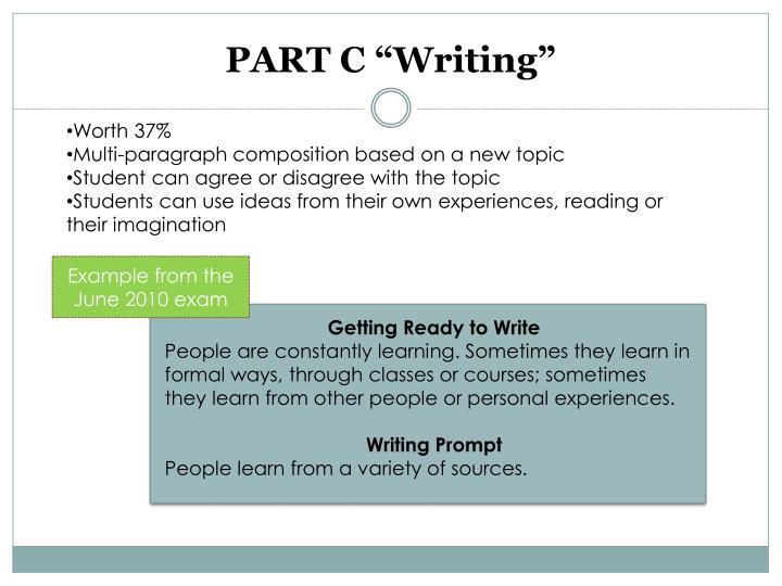 "PART C ""Writing"""