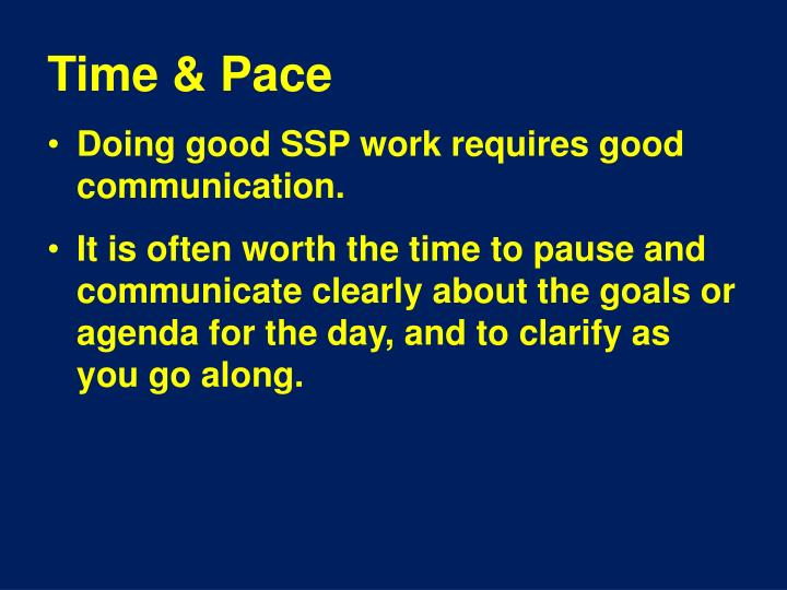 Time & Pace