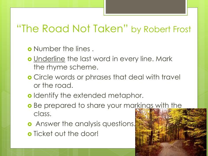 the road not taken rhyme