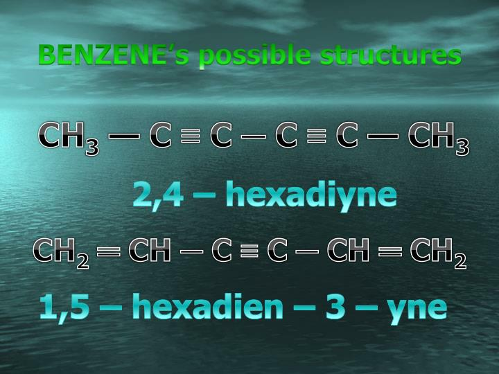 BENZENE's possible structures