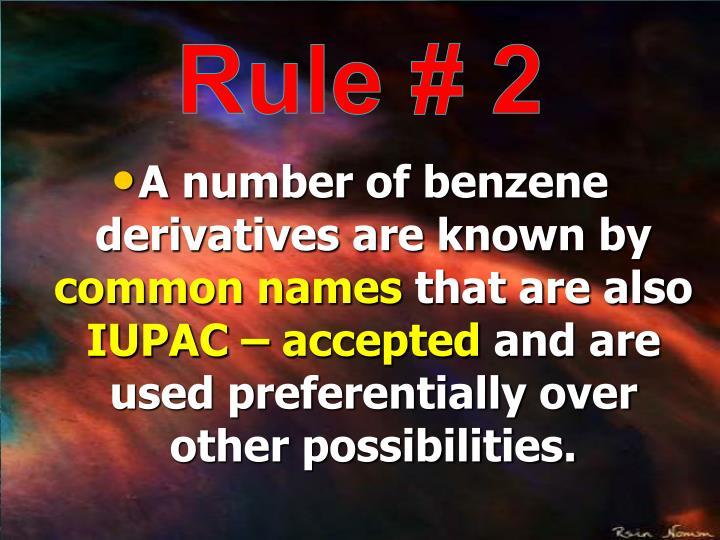 Rule # 2