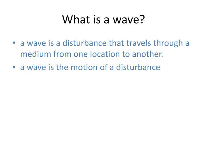 what is disturbance