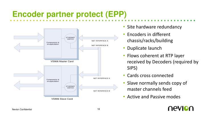 Encoder partner protect (EPP)