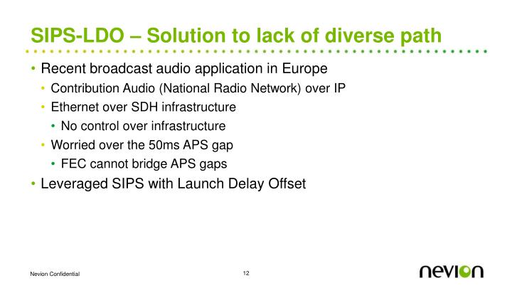 SIPS-LDO – Solution to lack of diverse path