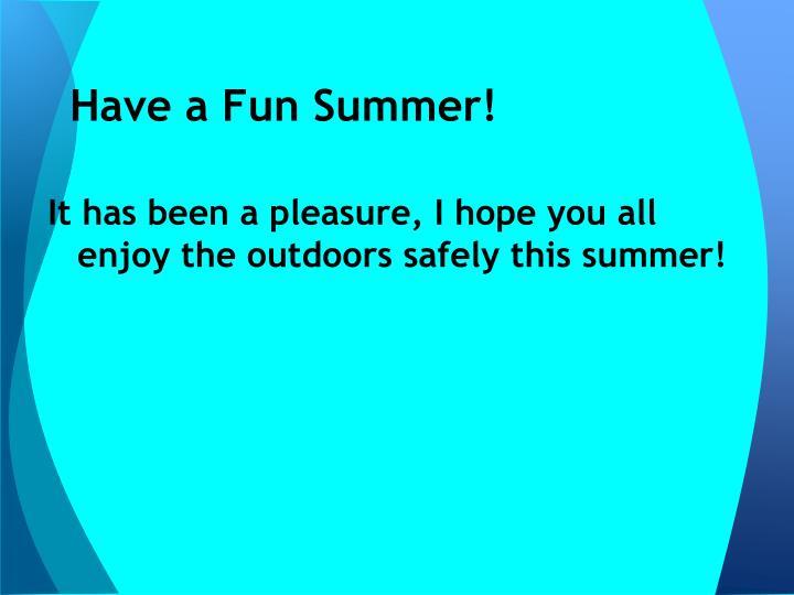 Have a Fun Summer!
