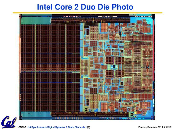 Intel Core 2 Duo Die Photo