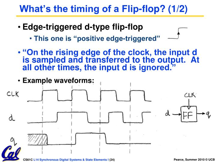 What's the timing of a Flip-flop? (1/2)