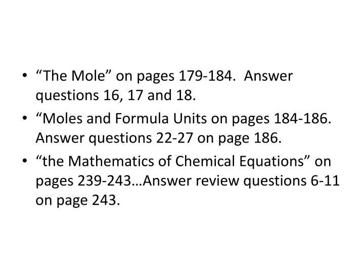 """The Mole"" on pages 179-184."
