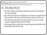 ii the big three