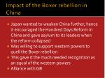 impact of the boxer rebellion in china