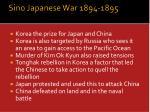 sino japanese war 1894 1895