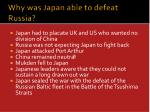why was japan able to defeat russia