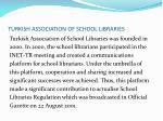 turkish association of school libraries