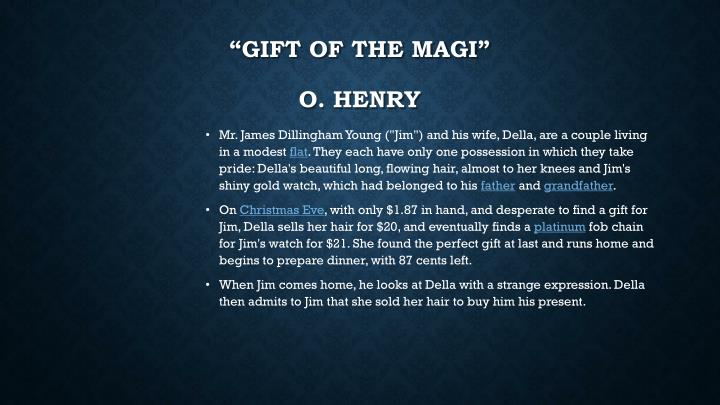 """""""Gift of the Magi"""""""