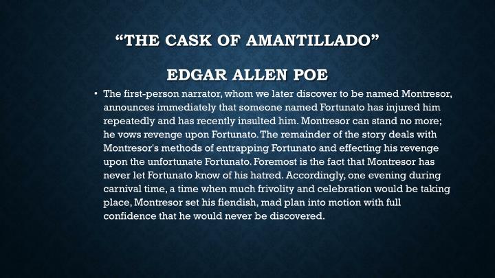 The cask of amantillado edgar allen poe