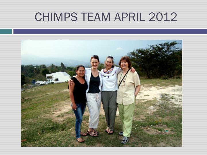 CHIMPS TEAM APRIL 2012