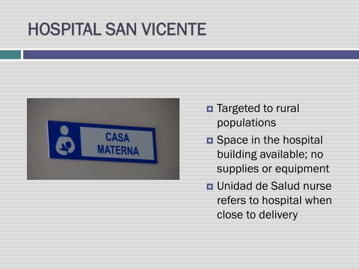 HOSPITAL SAN VICENTE