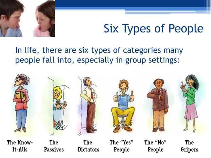 Six types of people