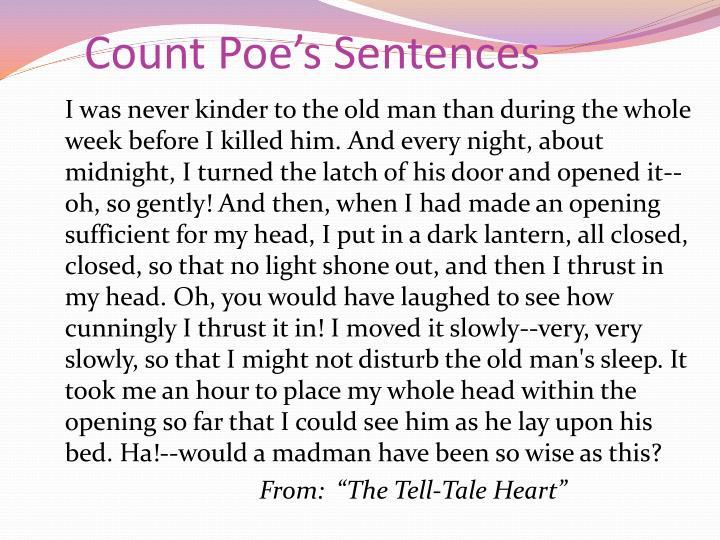 Count Poe's Sentences
