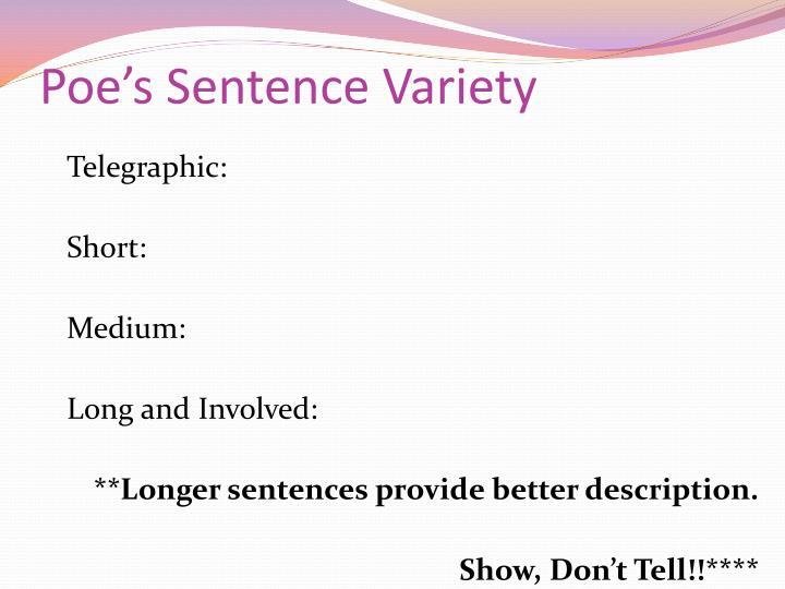 Poe's Sentence Variety