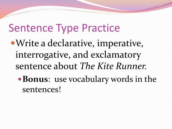 Sentence Type Practice
