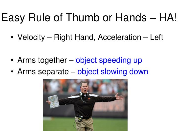 Easy Rule of Thumb or Hands – HA!