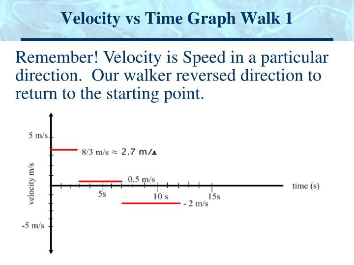 Velocity vs Time Graph Walk 1