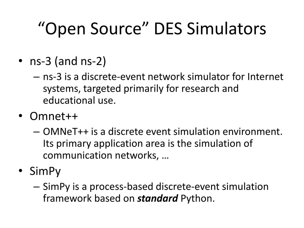 PPT - Discrete Event Simulation: An Overview PowerPoint Presentation