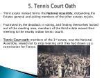 5 tennis court oath