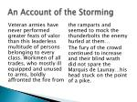 an account of the storming