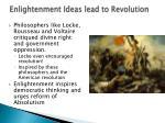 enlightenment ideas lead to revolution