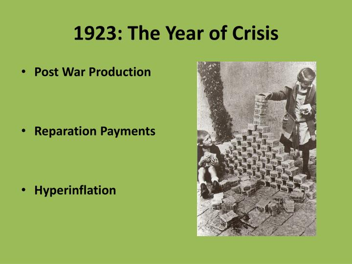 1923 the year of crisis